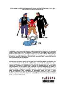 NOTA SOBRE O PROCESSO ABERTO PELO MINISTÉRIO PÚBLICO DE SÃO PAULO A ESTUDANTES E FUNCIONÁRIOS DA USP1